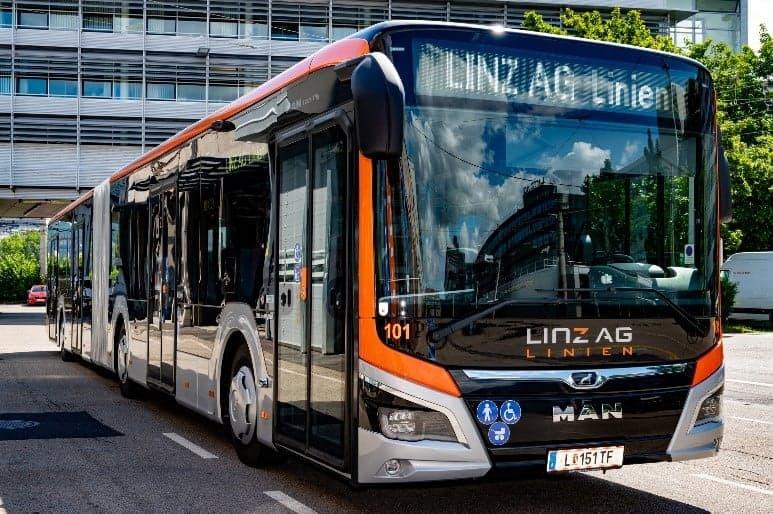 Neuer Elektrobus der Linz AG Linien.