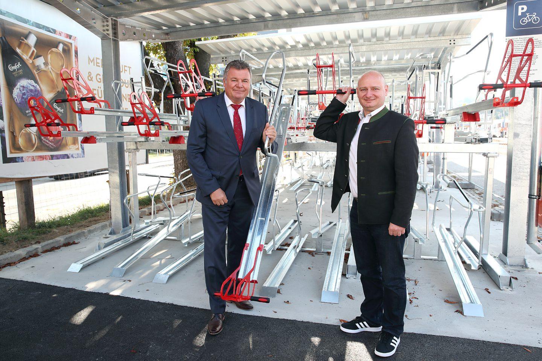 Bike & Ride Anlage am Mühlkreisbahnhof wird eröffnet