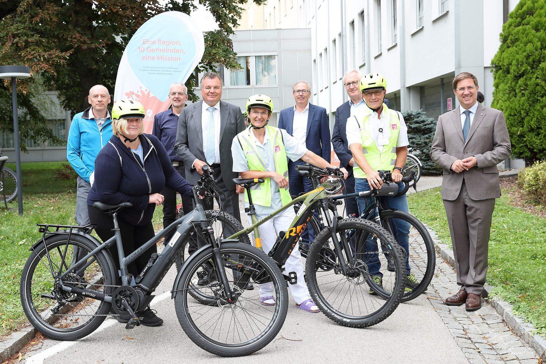 Die Mitarbeiterinnen und Mitarbeiter des Klinikum Wels-Grieskirchen können ein JobRad nutzen.