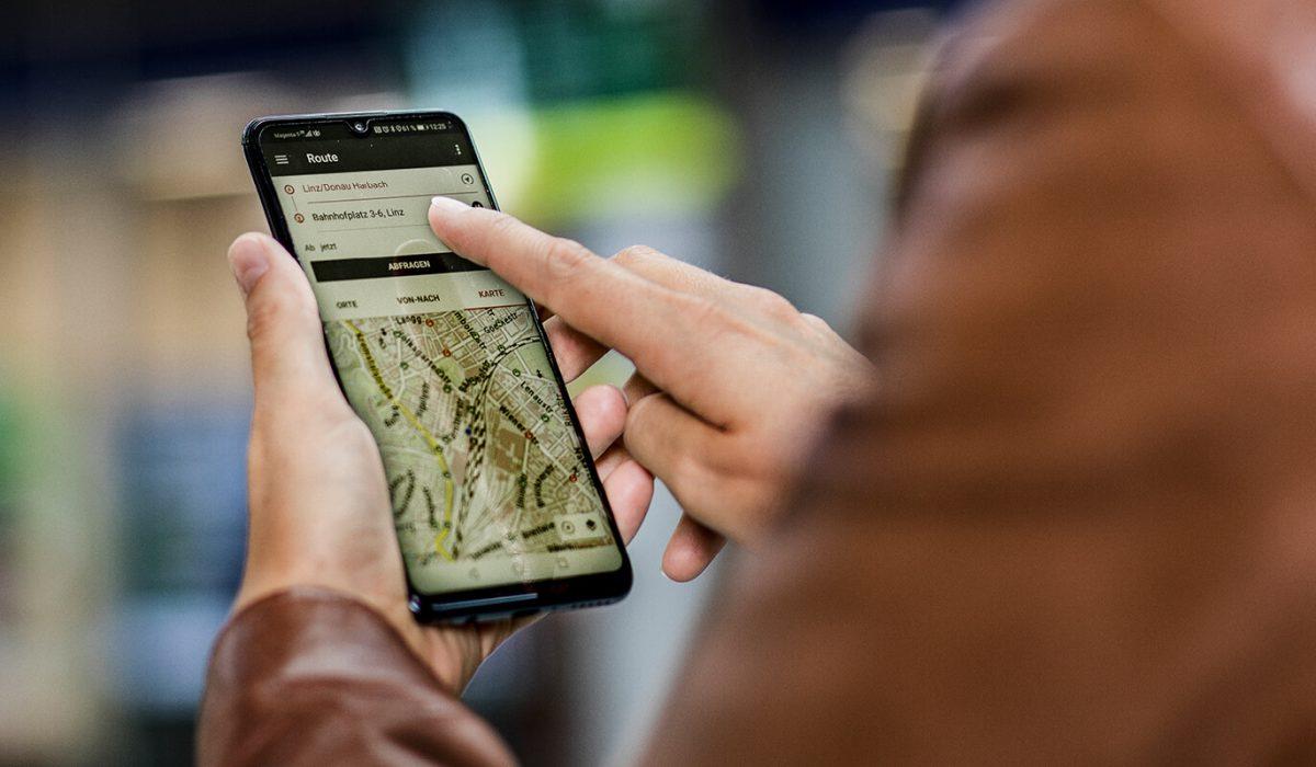 Mit der OÖVV INFO App finden Sie immer den schnellsten Weg