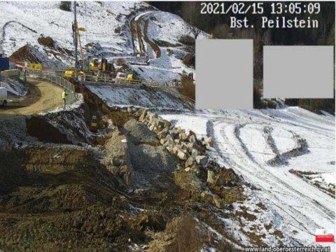 Webcam zum Baufortschritt der Umfahrung Peilstein